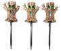 Spooky Tree Pathway Markers 3 Pack with Stakes Lights On Silo Image