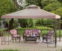 Square Easy Up Gazebo 9 point 8ft x 9 point 8ft lifestyle