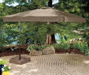 Wilson Amp Fisher Square Offset Umbrella With Netting Big Lots