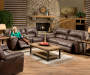 Stallion Motion Console Loveseat Recliner and Sofa Room View