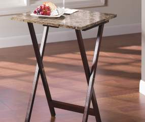 Stone Brown Tray Table Big Lots