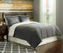 Stone Sherpa Queen 3-Piece Comforter Set Lifestyle Image