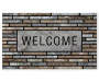 Stone Welcome Masterpiece Outdoor Doormat 18 Inches by 30 Inches Overhead View Silo Image