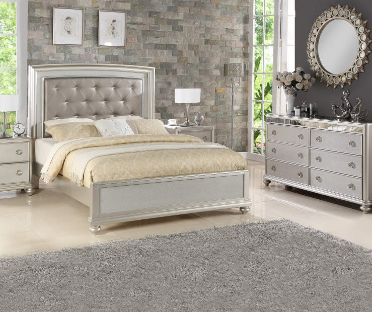 Stratford Gemma Platinum Queen Bedroom Collection | Big Lots