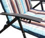 Striped Folding Lounge Chair with Padding Close Up