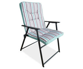 Wilson & Fisher Striped Padded Folding Chair | Big Lots