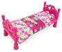 Style Girls Doll Bed with Label Angled View Silo Image