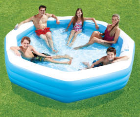 Summer Waves Octagonal Family Pool 10 39 Big Lots