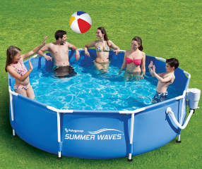 summer waves 10 x 30 metal frame pool big lots