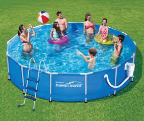 Summer Waves 14 X 36 Quot Metal Frame Pool Big Lots