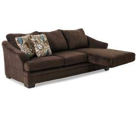 Simmons Sunflower Brown Sofa Chaise 1 Of 2 Pieces Big Lots