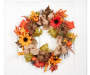 Sunflower Burlap Bow Wreath Hanging From Door Silo Image