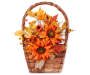 Sunflower Corn Husk Hanging Wall Basket Silo Image