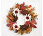 Sunflower Pod Wreath Hanging From Door Silo Image