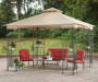 Sunjoy Easy Up Gazebo 10ft x 10ft lifestyle