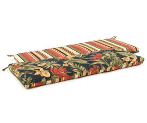 Sunset Ebony Tropical Amp Stripe Reversible Outdoor Bench