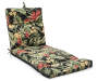 Sunset Tropical and Stripe Reversible Outdoor Chaise Cushion Tropical Side Up Silo Image