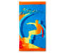 Surfer Beach Towel 34 Inches by 64 Inches Overhead View Silo Image