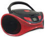 Sylvania Red Bluetooth CD Boombox with Handle Up Silo Image