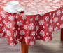 TIDINGS PEVA RED SNOWFLAKE 60IN.