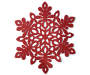 TIDINGS PM GLITTER FELT RED SNOWFLAKE