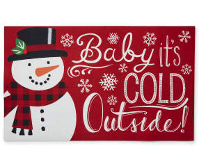 Red Quot Baby It S Cold Outside Quot Snowman Rubber Outdoor