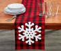 TIDINGS RUNNER BUFFALO CHECK SNOWFLAKE