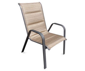 Wilson & Fisher Tahoe Oversized Padded Sling Stacking Patio Chair ...