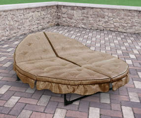 Wilson Amp Fisher Tan Orbit Round Cushioned Lounger Big Lots