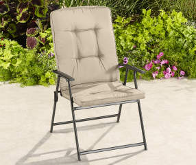 Wilson Amp Fisher Tan Oversized Padded Outdoor Folding Chair