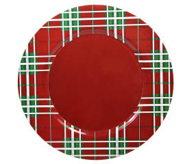 Tartan Plaid Charger Plate Big Lots