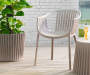 Taupe Basketweave Patio Chairs 2 Pack lifestyle