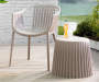 Taupe Pleated Side Table lifestyle