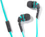 Teal Neons Stereo Earbuds Silo