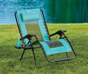 Teal Oversized Zero Gravity Lounger Big Lots