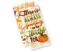 Thankful Words Kitchen Towels 2 Pack Stacked and Fanned Overhead View Silo Image
