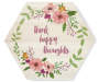 Think Happy Thoughts Hexagon Box Plaque silo front