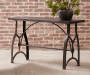 Tiburon Wood & Metal Sofa Table