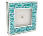 Tile Blue Tabletop Square Clock Silo