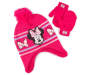 Toddler Minnie Mouse Earflap Hat & Mitten Set