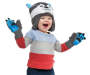 Toddler Wolf Earflap Hat & Mitten Set