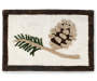 Tossed Pinecones Rug with Black Background Silo Image