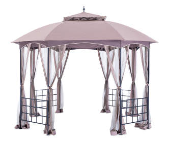 Wilson fisher avalon gazebo with netting 10 39 x 10 - Small gazebo with netting ...