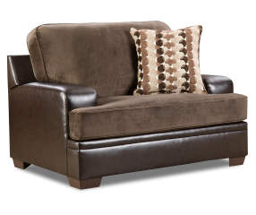 Simmons trevor chocolate memory foam chair and a half - Simmons living room furniture sets ...