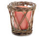 Tropical Fruit Rattan Candle 8 point 5 ounces silo front