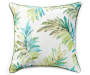 Tropical Lucia Green Outdoor Throw Pillow 24in x 24in silo front