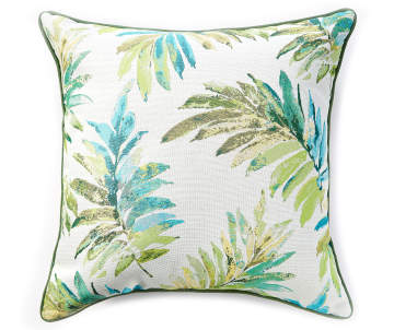 Tropical Lucia Green Outdoor Throw Pillow 24 X 24 Big Lots