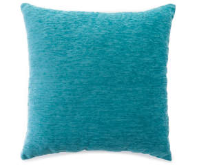 Turquoise Chenille Throw Pillow 18 Quot X 18 Quot Big Lots