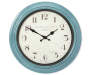 Turquoise Distressed Wall Clock 16 Inches Overhead View Silo Image