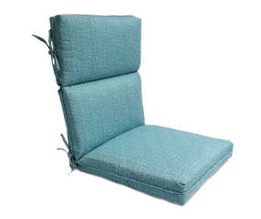 Turquoise High Back Deluxe Outdoor Chair Cushion Big Lots